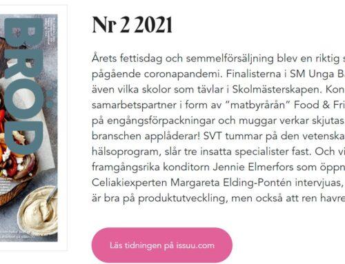 Intervju i tidningen Bröd nr 2, 2021